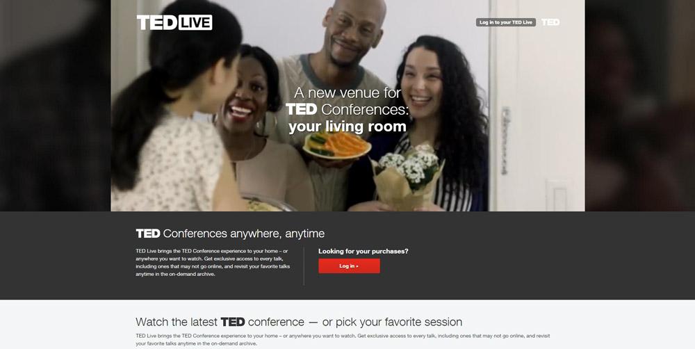 Página web de TED Live