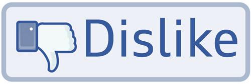 dislike de facebook