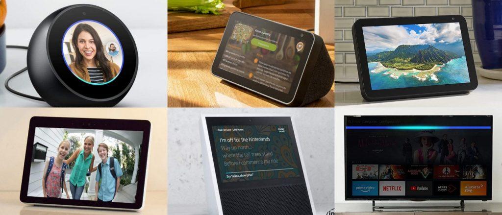los 6 dispositivos multimodales de Alexa Echo