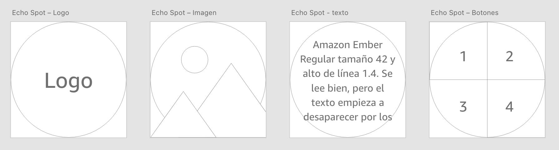 4 plantillas para el Alexa Echo Spot