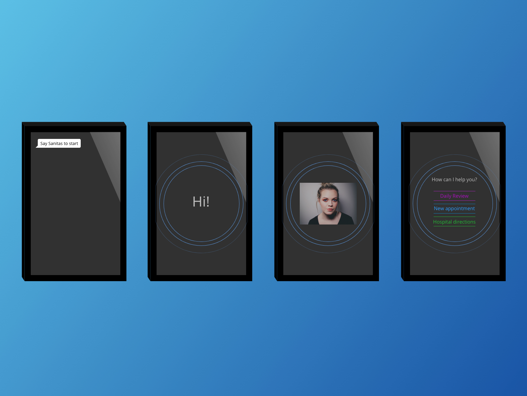 4 different views of the Smart Mirror